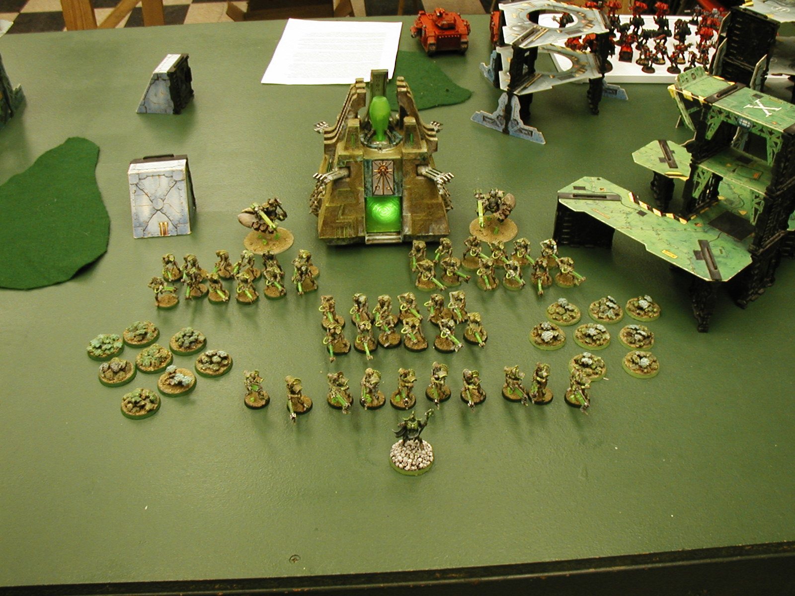 Necron display at tourney